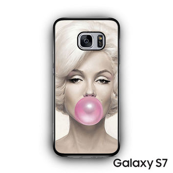 Marilyn Monroe Bubble Gum for Samsung Galaxy S7 custom phonecases