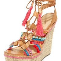 Mella Wrap Wedge Sandals