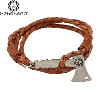Ax Leather Braided Bracelet