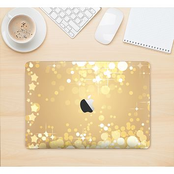 "The Gold Unfocused Sparkles Skin Kit for the 12"" Apple MacBook"