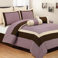 Luxury Plum King Comforter Set Verona