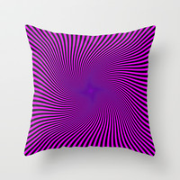 Black and Purple  Throw Pillow by Elena Indolfi