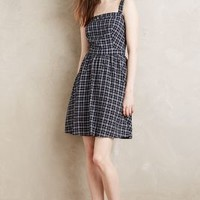 Paper Crown Topeka Plaid Dress in Blue Motif Size: