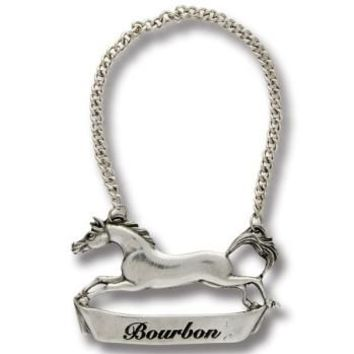 Pewter Horse Decanter Tag