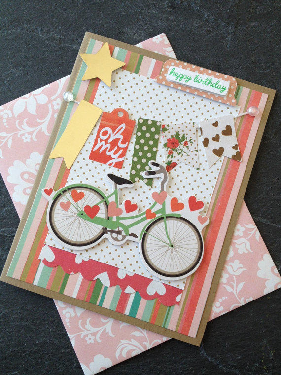 handmade happy birthday card card with a from