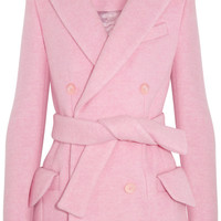 Carven | Double-breasted brushed wool-blend coat  | NET-A-PORTER.COM