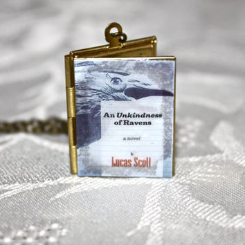 One Tree Hill 'An Unkindness of Ravens' Book Locket