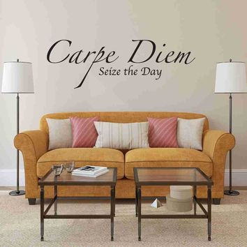 Carpe Diem, Seize the Day Wall Decal