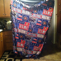 Custom made to order USMC blanket by DreamingofForever on Etsy