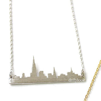 new york  necklace, new york skyline necklace,city necklace, us jewelry, souvenir necklace, skyline necklace, woman necklace. new york