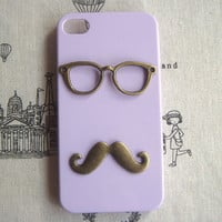 Steampunk Glasses Mustache  hard case For Apple by sallydesign