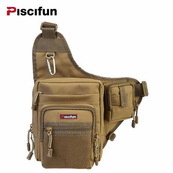 Waterproof Canvas Fishing Bag Waist Pack Multi-Purpose Outdoor Bag Reel Lure Bag