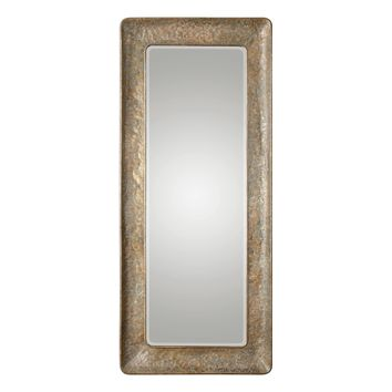 Silas Hammered Antiqued Gold Leaf Large Scale Wall Mirror by Uttermost