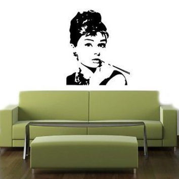 Audrey Hepburn Actress Wall Art Sticker Decal T042