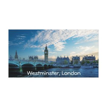 A View Of Westminster, London Canvas Print