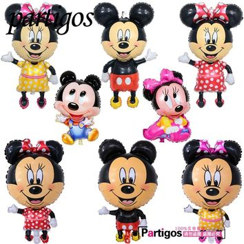 1pcs Large Size Mickey Minnie Mouse Foil Balloon Inflatable Ballon Baby Shower Birthday Wedding Party Supplies Kid's Toys Globos