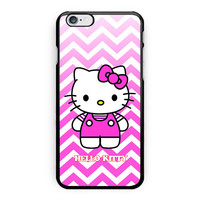 Chevron Hello Kitty Design Custom iPhone 6 Plus Case