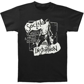 Social Distortion Men's  Pretty Picture Tee T-shirt Black
