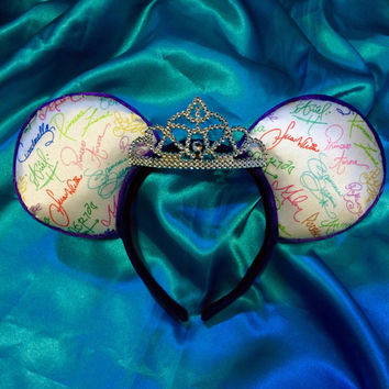 Princess Autograph Tiara Mouse Ears Headband