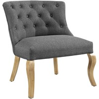 Royal Upholstered Fabric Vintage Armless Club Chair