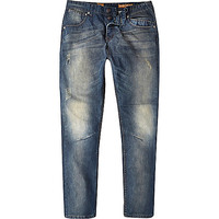 River Island MensMid wash Tokyo Laundry distressed jeans