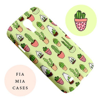 Cactus iphone case,cute,yellow,mint,green,cute,illustration,case,s4,iphone,iphone 6,plant,s4,5c,samsung galaxy s5,5,5s,cacti,succulent,4s,s6