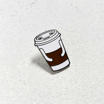Valley Cruise Press X Jason Sturgill Coffee Buddy Pin - Urban Outfitters