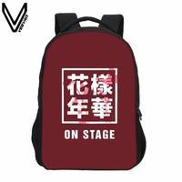 Girls bookbag 2018 VEEVANV Women Backpack Fashion Girls Shoulder Bags Korean KPOP BTS Printing Backpacks Boys School Backpack Children Bookbag AT_52_3