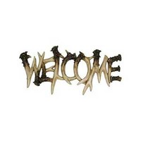River's Edge Antler Welcome Sign