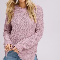 Pullover Sweater - Mauve
