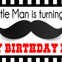 Little Man Mustache Bash Birthday Candy Bar Wrappers - Announce It!
