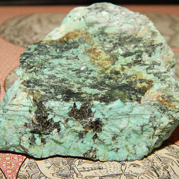 Genuine AFRICAN TURQUOISE Specimen Stone - Genuine Rough African Turquoise - Raw Gemstone for Lapidary or Cabbing - Crystals - Gemstones
