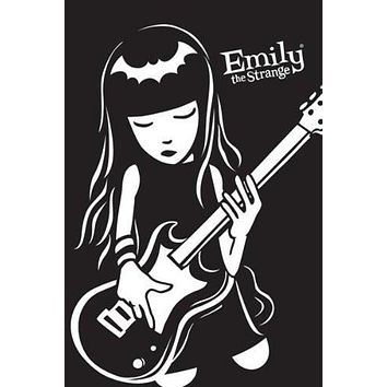 EMILY THE STRANGE POSTER - GUITAR - RARE NEW HOT 24X36