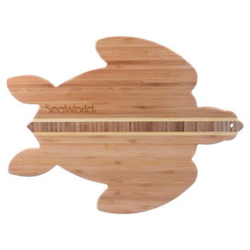 SeaWorld Sea Turtle Bamboo Cutting and Serving Board New with Tag