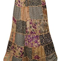 Womens Maxi Skirt Vintage Ethnic Patchwork Bohemian Long Skirts: Amazon.ca: Clothing & Accessories