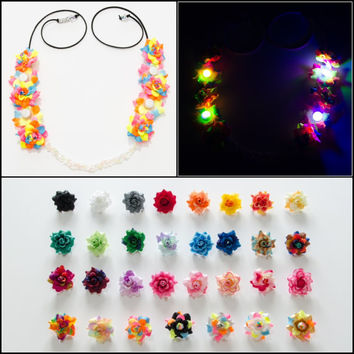 Customizable LED Rave Flower Crown, Electric Daisy Carnival, TomorrowWorld, TomorrowLand, Beyond Wonderland, Nocturnal Wonderland, PLUR