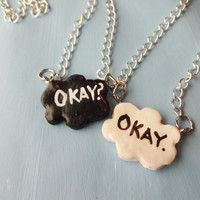 The Fault In Our Stars; Okay? Okay. Freiendship Necklace