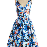 ModCloth Long Sleeveless Fit & Flare Picture Perfection Dress