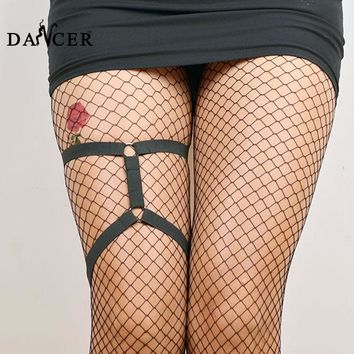 Leg garter Harajuku Gothic harness fashionable sexy black spandex harness attaching cute accessories for female