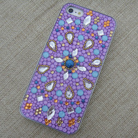 Full Rhinestone Pave Exotical Pattern  Handmade Case for iPhone 5