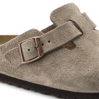 Boston Suede Leather Taupe | shop online at BIRKENSTOCK