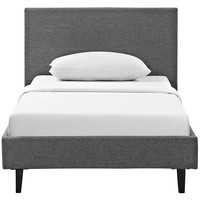 LexMod - Anya Twin Bed in Gray