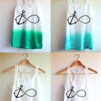 Forever Anchor Tie Dye Tank Top/Best Friend Tanks :)