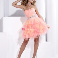 2013 Sale Cheap Orange Homecoming Ball Gowns Mini Dress Short Prom Pary Dresses