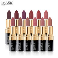 IMAGIC Lipstick Moisturizer Lips Smooth Lip Stick Long Lasting Charming Lip Lipstick Cosmetic Beauty Makeup 12 Colors