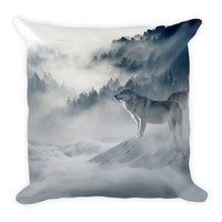 Wolf Premium Square Pillow (18x18)