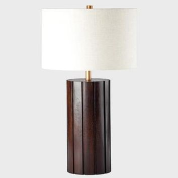 Ziqi Column Table Lamp In Chestnut/Gold