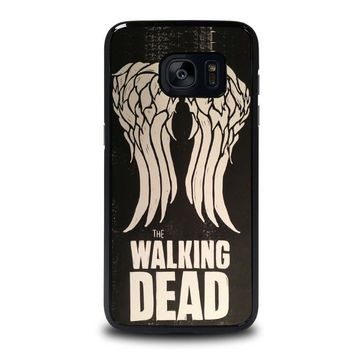 walking dead daryl dixon wings samsung galaxy s7 edge case cover  number 1