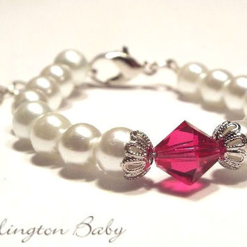Pearl Bracelet with Birthstone (B3)
