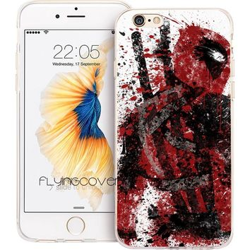 Deadpool Dead pool Taco Fundas  Marvel Hero Clear Soft Silicone Phone Cases for iPhone XS Max XR X 7 8 6 6S Plus 5S 5 SE 5C 4S 4 iPod Touch 6 5. AT_70_6